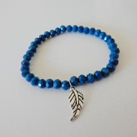 Armband | Blauw met bedel