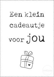 Kadokaartje | Een klein cadeautje voor jou