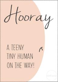 Kaart | Hooray a teeny tiny human on the way