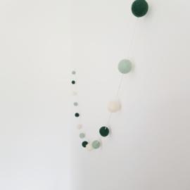 Slinger viltballetjes | Mint-groen-ecru