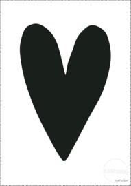 Poster | Zwart hart