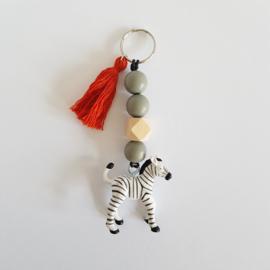Kindersleutelhanger | Zebra