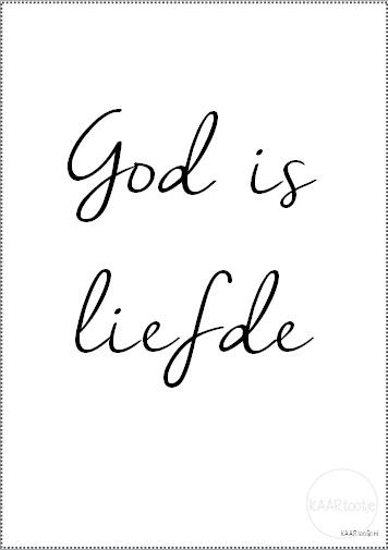 Poster | God is liefde