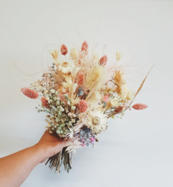 soft colours droogbloemen boeket small
