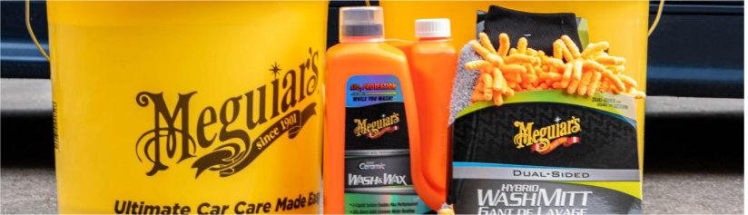 je auto wassen met meguiars hybrid ceramic wash & Wax shampoo