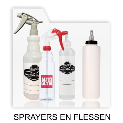 sprayers en flessen