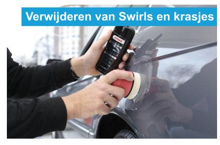 verwijderen van swirls en krasjes uit de lak van je auto
