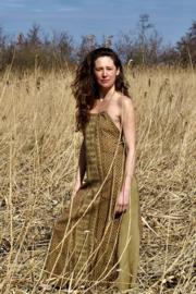 Aztec Long Dress Mosterd