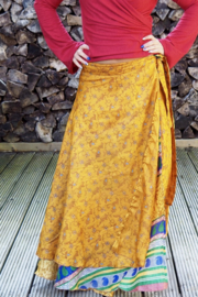 Bohemian Goddess Silk Skirt 126