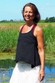 Doris Top  Zwart