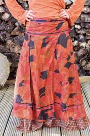 Bohemian Goddess Silk Skirt 44