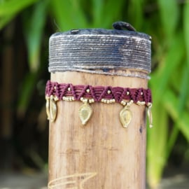 Anklet Eros Marroon Rood