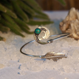 Boho Feather Green