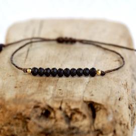 Natuurlijke Pyriet steen Boho Bracelet