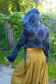 Tie Dye top Blauw/ Zwart