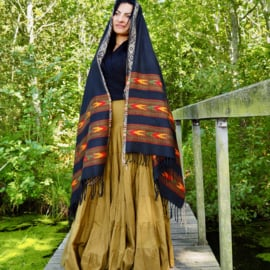 Bali Sjaal Omslagdoek Zwart