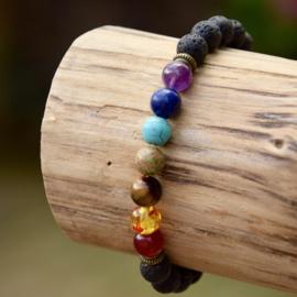 7 Chakra Healing Mala Armband