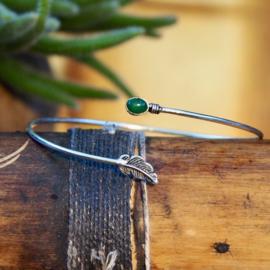 Tribal Bovenarm Feather Green