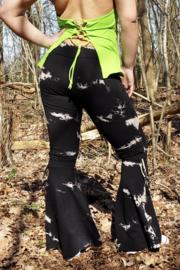 Flower Power Tie Dye Legging Black
