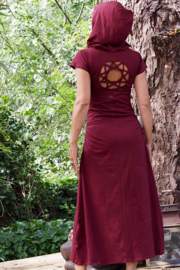 Gaia Dress Marroon Rood