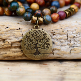 Jasper Tree of life  Mala