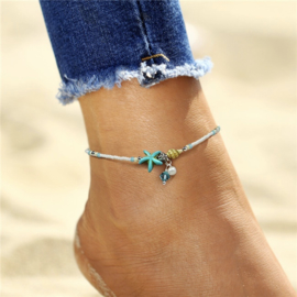 Anklet Blue Star