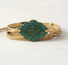 Handgemaakte Vintage Leather Wrap Bracelet