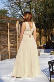 Hera Dress Rust Gebroken Wit