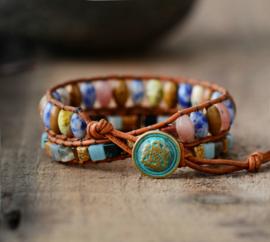 Handgemaakte Natural stones Wrap Bracelet