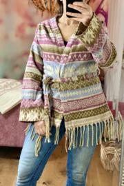 Fleece Vest Roze/ Bruin