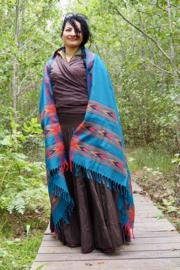 Bali Sjaal Omslagdoek Turquoise
