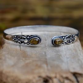 Double Queen Tijgeroog Armband
