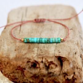 Natuurlijke Jaspis steen Boho Bracelet