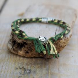Gevlochten Armbandje Buddha Green