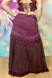 Goddess Skirt Donkerrood