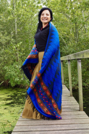 Carma Sjaal Donker Blauw
