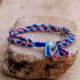 Gevlochten Armbandje Buddha Blue