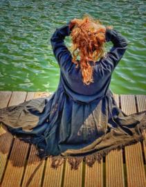 'Earth collection' Namaste Kimono Black