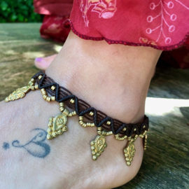 Anklet Prayer Brown