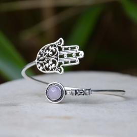 Hand van Fatima Rozenkwarts Armband