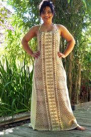 Aztec Long Dress Natural