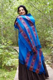 Bali Sjaal Omslagdoek Blauw
