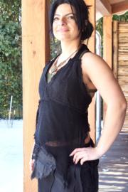 Demetria top Zwart