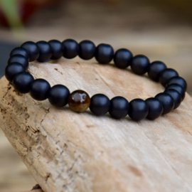 Black Onyx Stone Armband ook voor Mannen:-))