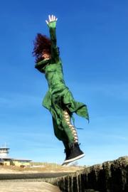 Tie Dye Legging Green