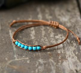 Handgemaakte Supercute Bracelet Turqoise stone