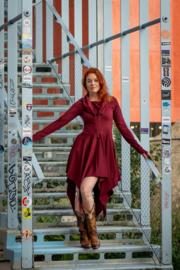 Elven Dress Marroon Rood