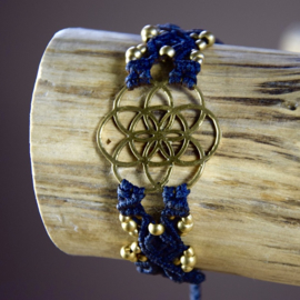Lucky Big Black Flower of Life