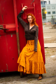 Flamenco Skirt Oker geel/oranje