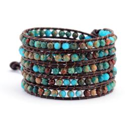 Handgemaakte Amazing!! Leather Wrap Bracelet
